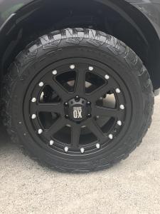 black alloy wheels