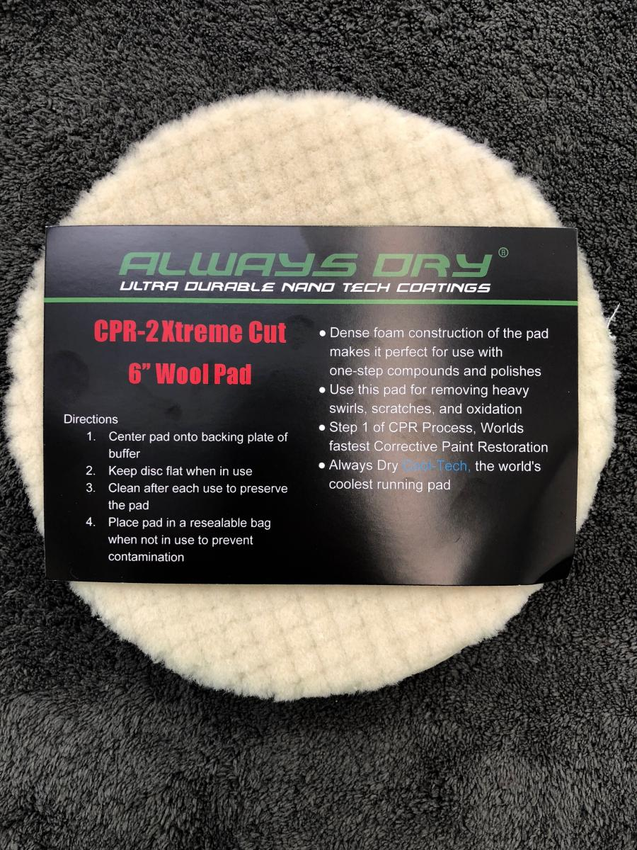 "6"" Wool Pad - Extreme Cut"