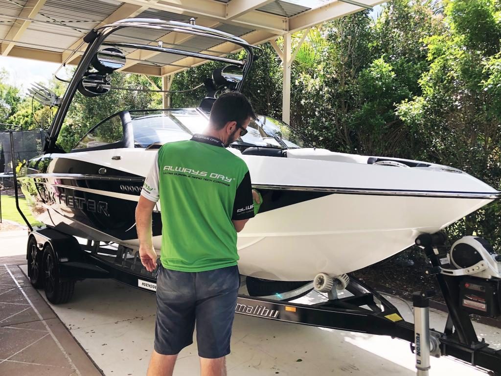 Malibu Boat protected by Always Dry