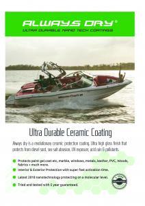 Marine Ultra durable Ceramic coating